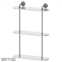 Полка стеклянная тройная 40 см 3SC Stilmar Antic Silver STI 417