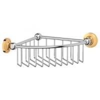 Полочка-решетка угловая 3SC Stilmar Chrome/Gold STI 108