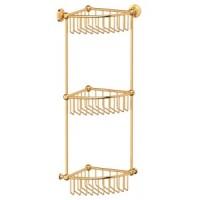 Полочка-решетка угловая тройная 3SC Stilmar Gold STI 209