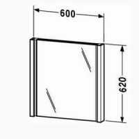 Зеркало с подсветкой 60см Duravit 2nd Floor 2F9646
