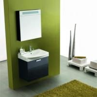 Комплект мебели с зеркалным шкафом 60см Arbi Modena Basic L401 черный глянец
