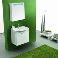 Комплект мебели с зеркалным шкафом 60см Arbi Modena Basic L401 белый глянец