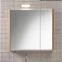 Шкаф зеркальный 82х14см Berloni Bagno SN07 (белый, без светильника)
