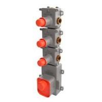 Внутренняя часть смесителя с термостатом для 3 потребителей Fima Carlo Frattini F2463