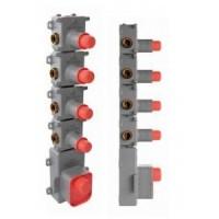 Внутренняя часть смесителя с термостатом для 4 потребителей Fima Carlo Frattini F2464