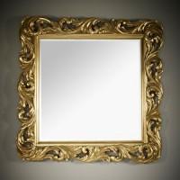 """Зеркало 108x108 Deknudt Mirror """"Voluta Silver"""" 2700.122"""