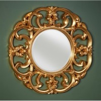 "Зеркало 100x100 Deknudt Mirror ""Garland Gold"" 9038.AGB"