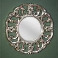 """Зеркало 100x100 Deknudt Mirror """"Garland Silver"""" 9038.AHB"""