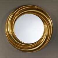 "Зеркало 94x94 Deknudt Mirror ""Ondule Gold"" 9929.AGB"