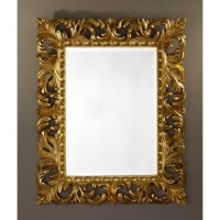 "Зеркало 80x100 Deknudt Mirror ""Sculpture Gold"" 9985.AGB"