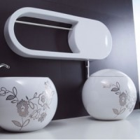 Унитаз напольный Disegno Ceramica Sfera 550-B-P + 553-DX