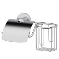 Держатель туалетной бумаги с крышкой и освежителя Ellux Elegance ELE 069