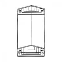 Полочка-решетка двухуровневая треуг. 18х18 см FBS Ryna RYN 003