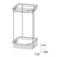 Полочка-решетка двухуровневая прямоугольная 13х13 см FBS Ryna RYN 017
