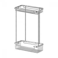 Полочка-решетка двухуровневая прямоугольная 20х20 см FBS Ryna RYN 020