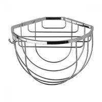 Полочка-решетка угловая полукруглая 26 см с держателями для мочалок FBS Ryna RYN 034