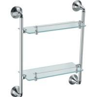 Полочка стеклянная двухъярусная Fixsen FX-71600 Best FX-71622