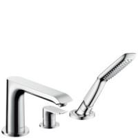 Смеситель для ванны на 3 отверстия Hansgrohe Metris 31190000