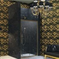 Душевая дверь раздвижная с неподвижным сегментом 100х195 Huppe Enjoy Victorian EV0401.031.339 петли слева