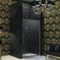 Душевая дверь раздвижная с неподвижным сегментом 120х195 Huppe Enjoy Victorian EV0502.031.339 петли справа
