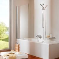 Шторка для ванны 75-76.5cм Huppe Design pure 512401.092.322