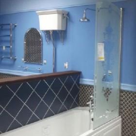 Шторка для ванны 75см Huppe Design Victorian DV1501.092.344 FrozenGrace/хром, Huppe, Huppe