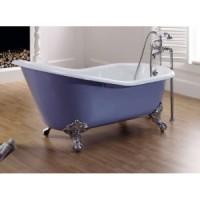 Чугунная ванна 154х77см Recor Slipper, с ножками Imperial