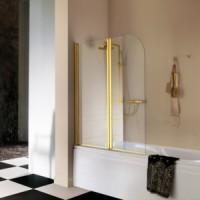 Шторка для ванны 100см Samo DolceVita FDT бронза