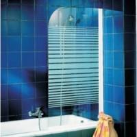 Шторка для ванны 80см Schulte Komfort D16500172 прозрачное стекло в полоску