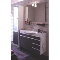 Комплект мебели 120+36см Edmo Step с пеналом, серый дуб