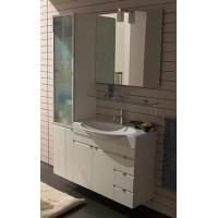 Комплект мебели 85+36см Edmo Step с пеналом, белый