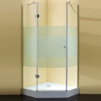 Душевой уголок 100x100x190 cm Sturm Star White stripes glass