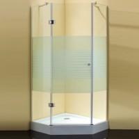 Душевой уголок 90x90x190 cm Sturm Star White stripes glass