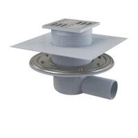 Трап для монтажа в пол с решёткой из нержавеющей стали 105х105мм Alcaplast APV1324