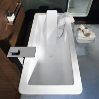 Ванна 150х80 Gessi iSpa Total Look 42015 521 + полка для спины 42027 521