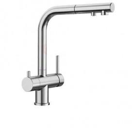 Смеситель для кухни с подключением фильтрованной воды с выдвижным изливом Blanco Fontas-S 525198 хром