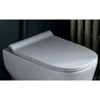 Сиденье для унитаза с механизмом плавного опускания AXA WHITE JAM AF3301