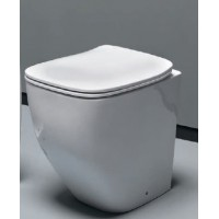 Унитаз напольный приставной безободковый, AXA White Jam 3312601