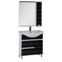 Мебель для ванной Aquanet Доминика 80 б\к черный 00172412