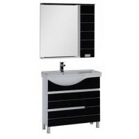 Мебель для ванной Aquanet Доминика 90 L черный 00176649