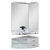 Мебель для ванной Aquanet Корнер 89 R белый угловой открытый 00161233