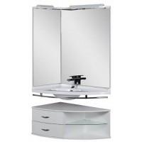 Мебель для ванной Aquanet Корнер 89 L белый угловой открытый 00161242