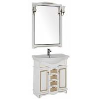 Мебель для ванной Aquanet Луис 80 белый/золото 00186394