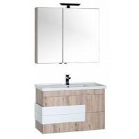 Шкаф-пенал для ванной Aquanet Мадейра 100 дуб кантри 00183159