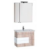 Шкаф-пенал для ванной Aquanet Мадейра 80 дуб кантри 00183162