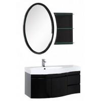 Мебель для ванной Aquanet Опера 115 L черный (2 дверцы 2 ящика) 00169415