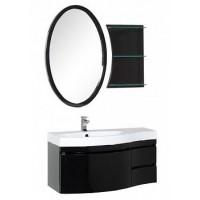 Мебель для ванной Aquanet Опера 115 L черный (3 ящика) 00169449