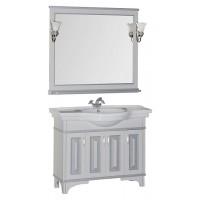 Мебель для ванной Aquanet Валенса 110 белый краколет/серебро 00180448