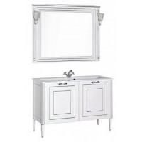 Мебель для ванной Aquanet Паола 120 белый/серебро (литьевой мрамор) 00182131