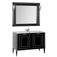 Мебель для ванной Aquanet Паола 120 черный/серебро (литьевой мрамор) 00182132